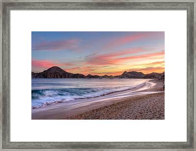 Cabo Sunset Framed Print by Mark Goodman