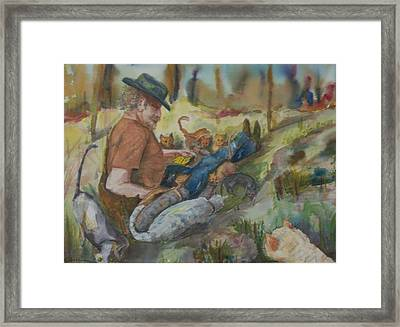 Caboodle Ranch Cats Framed Print by Barbara McGeachen