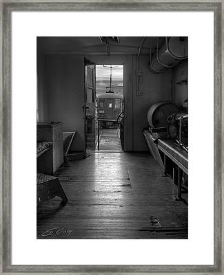 Framed Print featuring the photograph Caboose Door by Ed Cilley