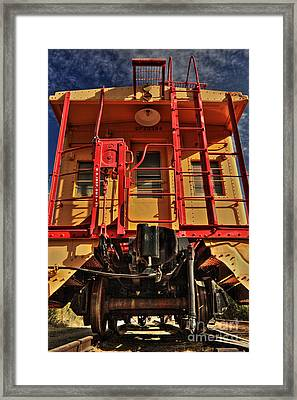 Caboose Framed Print by James Eddy