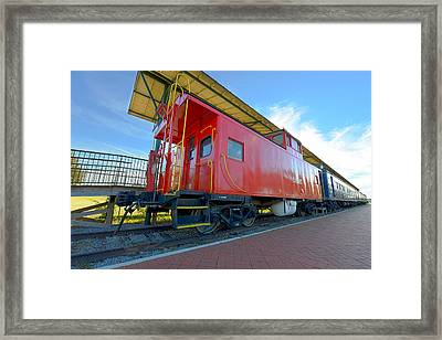 Caboose Norfolk And Western Railroad Framed Print by Greg Hager