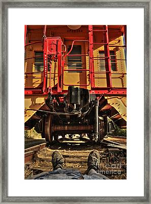 Caboose On The Loose Framed Print by James Eddy