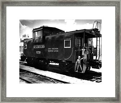 Caboose Rail Car Framed Print by Retro Images Archive