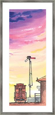 Caboose Framed Print by Ray Cole