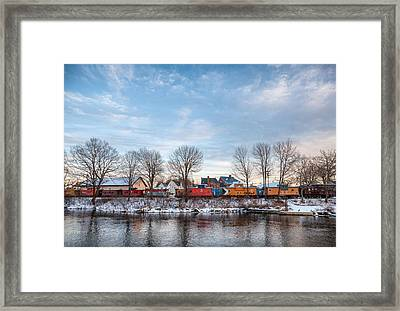 Framed Print featuring the photograph Cabooses by Robert Clifford