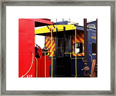 Cabooses Framed Print by Rodney Lee Williams