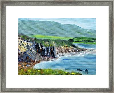Cabot Trail Coastline Framed Print