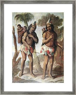 Cabrera, Miguel 1695-1768. Barbarian Framed Print by Everett