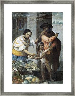 Cabrera, Miguel 1695-1768. Castes. From Framed Print