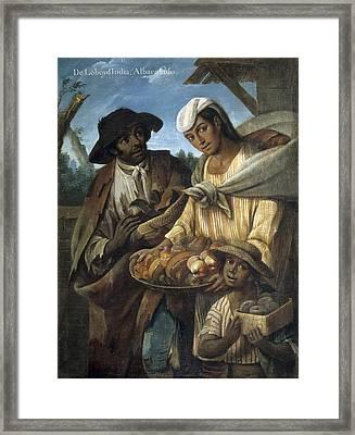 Cabrera, Miguel 1695-1768. De Lobo Y De Framed Print by Everett