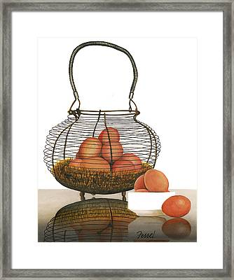 Framed Print featuring the painting Cackleberries by Ferrel Cordle
