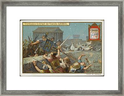 Cackling Geese On The Capitol,  Rome Framed Print