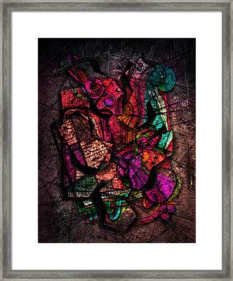 Cacophony In Z Minor Framed Print by Gary Bodnar