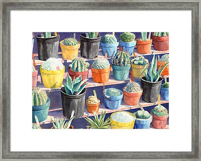 Cacti Chorusline Framed Print