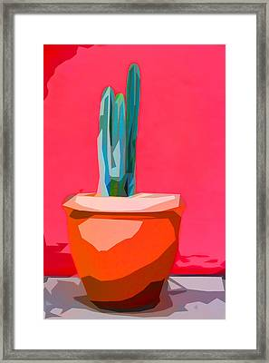 Cacti In Pot Collage Framed Print