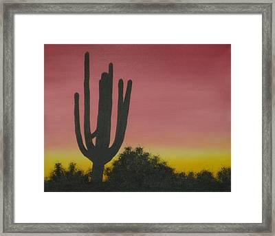 Cactus At Dawn Framed Print by Aaron Thomas