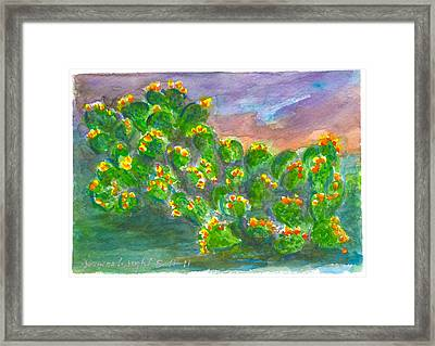 Cactus Beautiful Framed Print by Ramona Wright