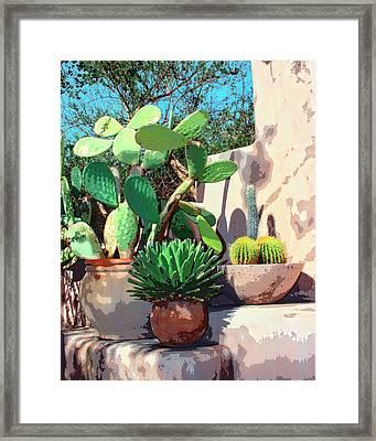 Cactus Corner Palm Springs Framed Print