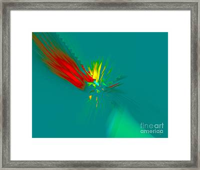 Framed Print featuring the digital art Cactus Flower by Victoria Harrington