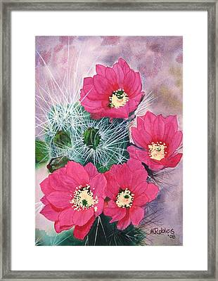 Cactus Flowers I Framed Print by Mike Robles