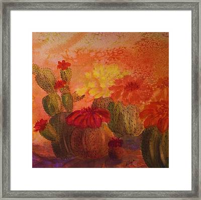 Cactus Garden - Square Format Framed Print