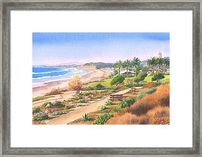 Cactus Garden At Powerhouse Beach Framed Print by Mary Helmreich