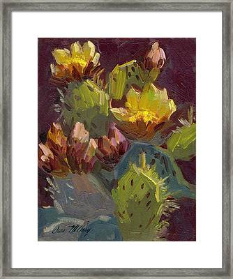 Cactus In Bloom 1 Framed Print by Diane McClary