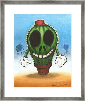 Cactus In Freedom Framed Print by Eusebio Guerra