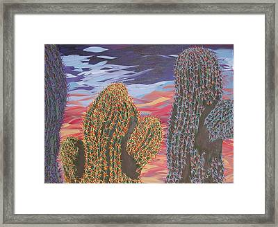 Cactus Of Color 1 Framed Print by Marcia Weller