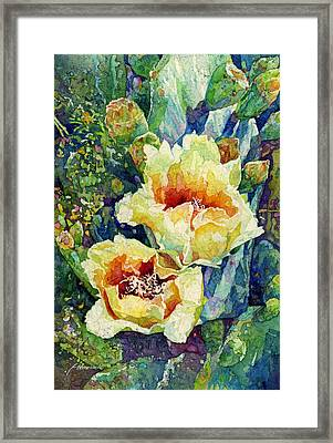 Cactus Splendor I Framed Print by Hailey E Herrera