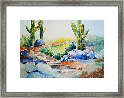 Cactus Trail Framed Print