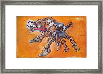 Cadaver Feet Project Framed Print by Jose Gonzalez Lanza