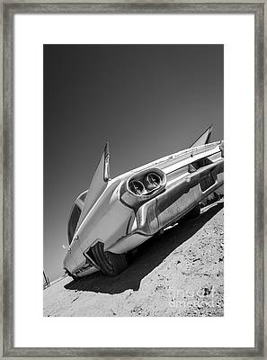 Caddillac Dreams Black And White- Metal And Speed Framed Print