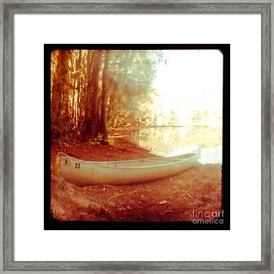 Caddo Canoe Framed Print by Sonja Quintero