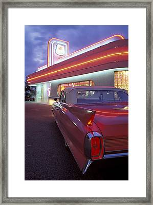 Caddy At Diner Framed Print by Christian Heeb