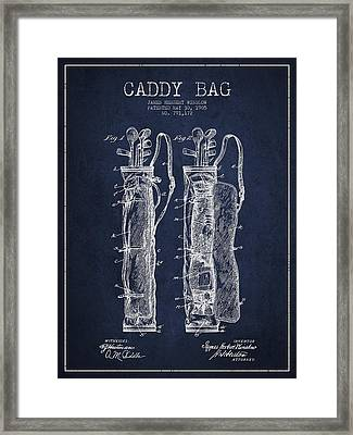 Caddy Bag Patent Drawing From 1905 Framed Print by Aged Pixel