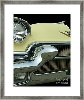 Framed Print featuring the photograph Caddy Classic Yellow-1 by Cheryl Del Toro