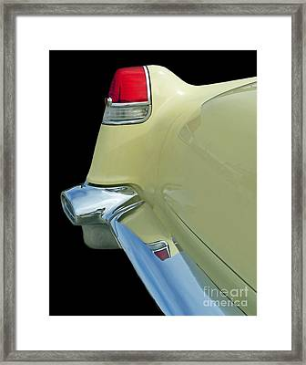 Framed Print featuring the photograph Caddy Classic Yellow-2 by Cheryl Del Toro