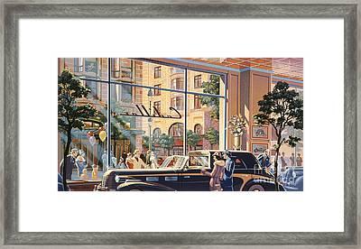 Caddy Corner Framed Print