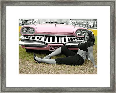 Caddy With Curves Framed Print