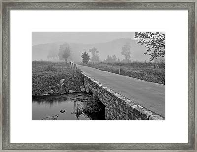 Cades Cove Black And White Framed Print by Frozen in Time Fine Art Photography