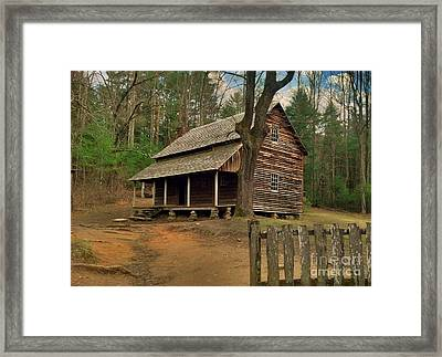 Cades Cove Cabin Framed Print