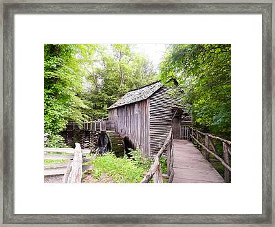 Cades Cove Cable Mill Framed Print by Cynthia Woods