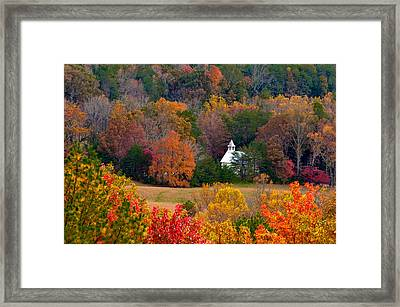 Cades Cove Church Framed Print