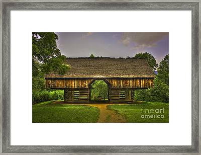 Cades Cove Cantilever Barn Great Smokey Mountains Framed Print