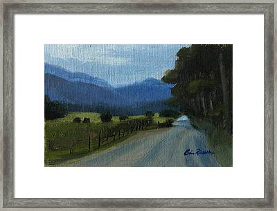 Cades Cove Framed Print by Erin Rickelton