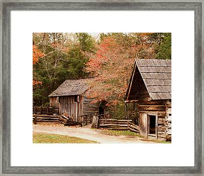 Cades Cove Grist Mill Framed Print