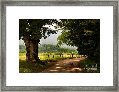 Framed Print featuring the photograph Cades Cove Loop by T Lowry Wilson