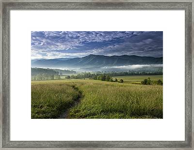 Cades Cove Meadow Framed Print by Andrew Soundarajan