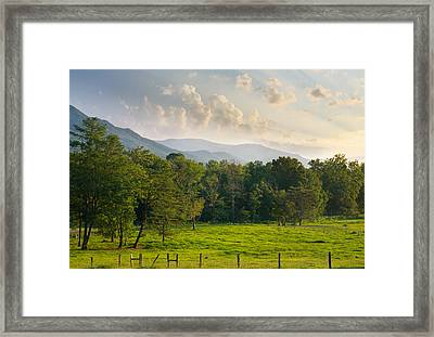 Cades Cove Framed Print by Melinda Fawver